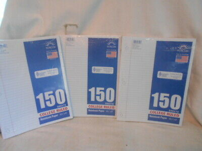 NORCOM 150 SHEETS College Ruled Notebook Paper 10 1/2