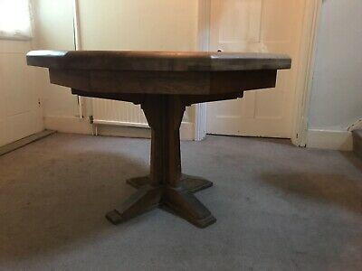 Antique Oak Farmhouse Octagonal Kitchen Dining Table