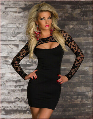 Sexy Womens Spring Long Sleeve Bodycon Dress Ladies Party Club Short Mini Dress