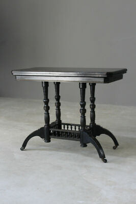 Victorian Aesthetic Movement Ebonised Games Card Table