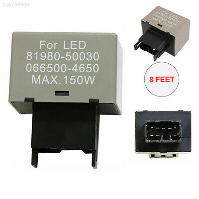 E999 Durable Flasher Assy Relay LED Assy Relay Turn 8-Pin Plastic Turn Signal