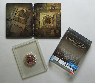 Game Of Thrones Fifth Season 5 - Uk Blu-Ray Steelbook Edition With Magnet * Open