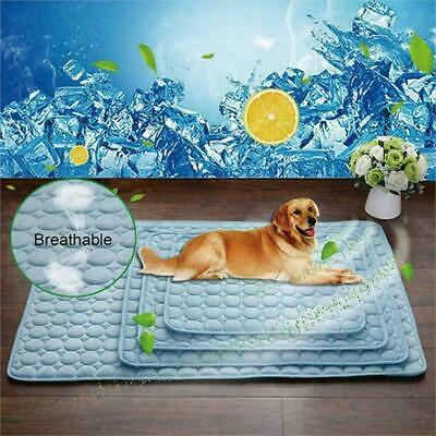 Pets Dog Cooling Mat Pet Cat Chilly Non-Toxic Summer Bed Pad I Cushion Cool Q6K1