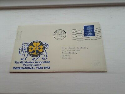 GIRL GUIDES 1973 UK COVER  STAMPS £2.99 POST FREE WORLDWIDE bx4
