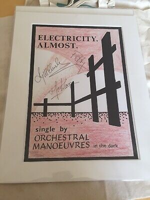 Two Posters Omd  Orchestral Manoeuvres In The Dark  & Two Canvas Bags One Signed