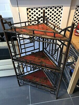 Fine Quality 19th Century Bamboo And Japanned Lacquer Corner Stand