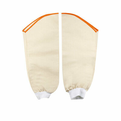 Cotton Canvas Work Sleeves White for Welding Process Arm Protection 1 Pair