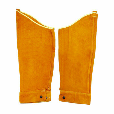 Cowhide Leather Work Sleeves Yellow for Welding Process Arm Protection 1 Pair