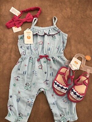 NWT Gymboree baby girls bow bule sailor voyage dress clothing size 3 6 9 months