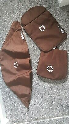 Bugaboo cameleon 1 and 2 brown canvas Hood, apron and seat cover