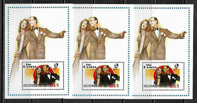 Gambia #777 MNH S/Sheet - Hayworth and Astaire - Wholesale X 3