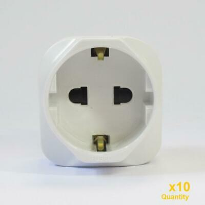 10x Travel Adapter 2968 USA/JAP to UK Fused Plug Adapters 13AMP 250V~ Unused A