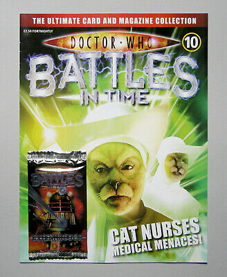 Dr DOCTOR WHO BATTLES IN TIME Magazine Issue #10 + EXTERMINATOR CARDS PACK 2007