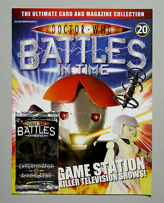 Dr DOCTOR WHO BATTLES IN TIME Magazine Issue #20 + ANNIHILATOR CARDS PACK 2007
