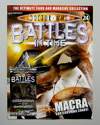 Dr DOCTOR WHO BATTLES IN TIME Magazine Issue #24 + ANNIHILATOR CARDS PACK 2007