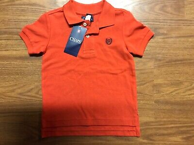 Toddler Boys Chaps Short Sleeve Polo NWT Size 2T Red Easter Shirt
