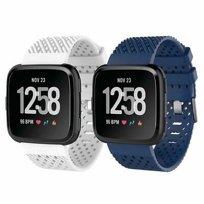 For Fitbit Versa Band Silicone Sport Wrist Strap Replacement Large Men 2 Pack