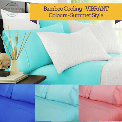 2000TC Bamboo Cooling Sheet Set   Hypo-Allergenic Breathable Summer Sheets
