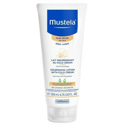 Mustela Nourishing Body Lotion 200Ml With Cold Cream For Dry Skin Nourishes
