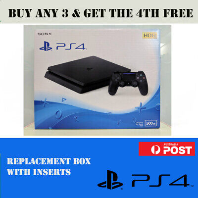 Playstation 4 PS4 Slim Empty Replacement Box With Inserts • Fast Post