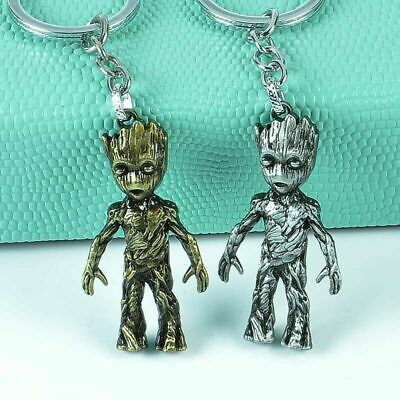 Abasement Little Baby Groot Guardians of the Galaxy 2 Key Ring Chain Figurine