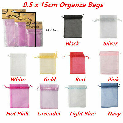 6 x Small Organza Bags 9.5x15cm Pouch Gift Jewellery Packing Birthday Favor Bag