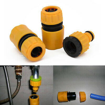3×Selection Garden Water Hose Joiner Lawn Pipe Fitting  Quick Connector Adaptor