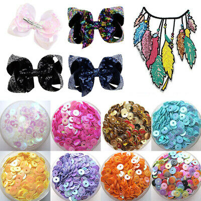 1000Pcs Shiny Loose Sequins Flat Bead Paillette DIY Craft Sewing Handmade 4mm