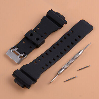 Watch Strap Band + Pins Fit for G Shock GA-100 G-8900 GW-8900 Replace Part