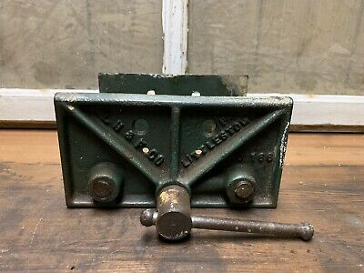 Vintage LH & F No 166 Woodworking Bench Vise Clamp Made In USA PA Old Antique