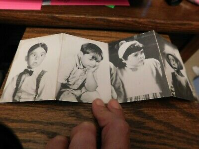 Little Rascals Our Gang character movie cards Spanky Alfalfa Buckwheat and Darla