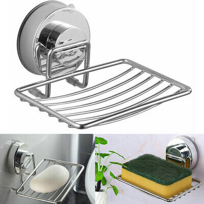 Premium 2 Pack Soap Holder Soap Dish Holder Wall Mount Self Adhesive Waterproof for Home Kitchen Bathroom Super Easy Installation