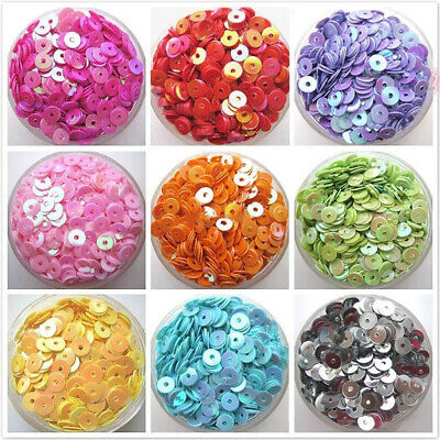 400PCS 6mm Round Loose Sequins Flat Bead Paillette DIY Craft Sewing Decoration