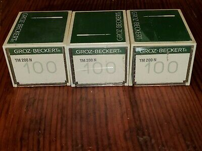 Sewing Machine Needles 3 Boxes TM 200 N Groz-Beckert Lot