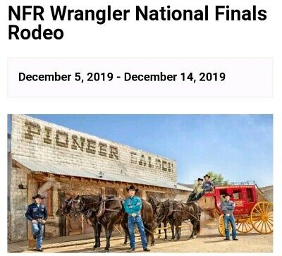 IN-HAND National Finals Rodeo Ticket Las Vegas, NV Dec 5th Thomas & Mack