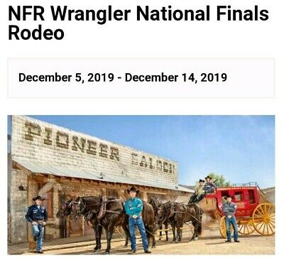IN-HAND National Finals Rodeo Ticket Las Vegas, NV Dec 7th Thomas & Mack