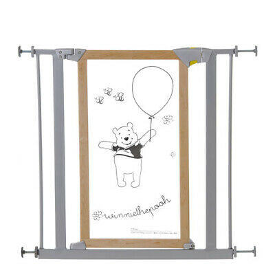 Hauck Designer Safety Gate Winnie The Pooh Stair Gate Silver Boxed
