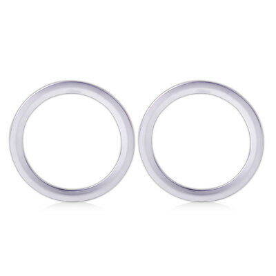 2x Chrome Plated Interior AC Air Vent Outlet Trim Cover Ring for Benz W246