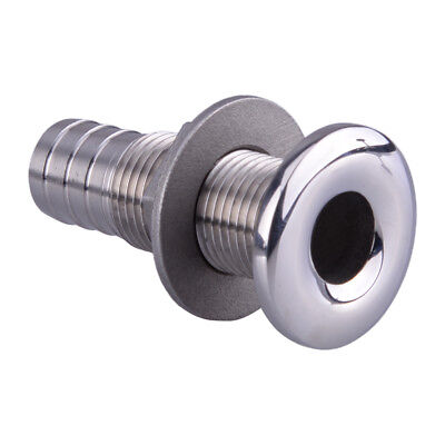 """1/2""""  Stainless Steel Straight Thru-Hull Hose Plumbing W/ Scupper for Boat Yacht"""