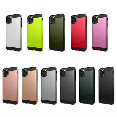 For iPhone 11 Pro Max XS XR X 8 7 6s Plus Brushed Silicone Hard Armor Case Cover