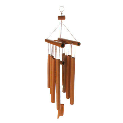 Hand Made Wooden Bamboo Chinese Buddha Garden Windchime Wind Chime Ornament