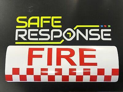 STICKER sign FIRE 300mm retained firefighter signage vehicle emergency response