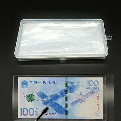 Transparent PVC Paper Money Banknote Holders Album Pages Sleeves Storage Note SW