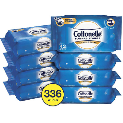 Cottonelle FreshCare Flushable Wipes For Adults Wet Wipes Alcohol Free 336 CT