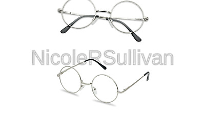 SunglassUP - Small Round Vintage Metal John Lennon Clear Lens Eye Glasses