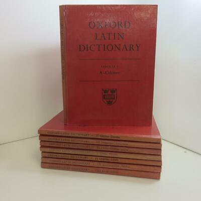 Used Oxford Latin Dictionary VOL 1 to 8 issued 1968