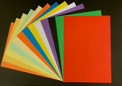 A4 Coloured Card, High Quality, Double Sided, Heavy weight 240gsm.