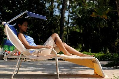 Personal foldable folding sunshade for sunbed lounger or garden chair (SPF cream