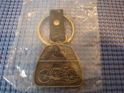 1987 Harley-Davidson 1909 V-TWIN Powered Motorcycle-Fob LEATHER STRAP NIP SEALED