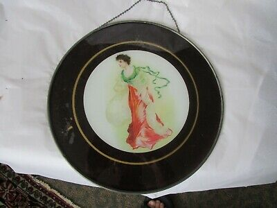 Antique Victorian Fancy Cook Stove Chimney Flue Cover Dancing Lady